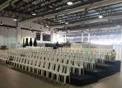 Alquiler de gradas para ubicar las sillas