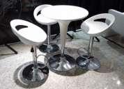 Alquiler de mesas cocteleras, sillas y taburetes