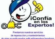 Reparacion, mantenimientos y ventas de: aires acondicionados en general, lavadoras y neveras