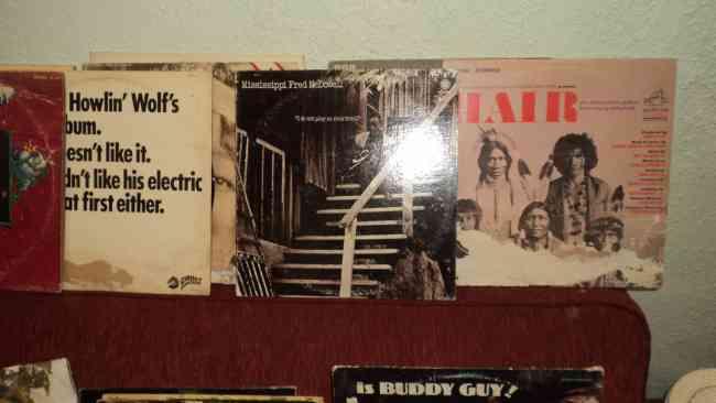 Colección de discos originales de vinilo.