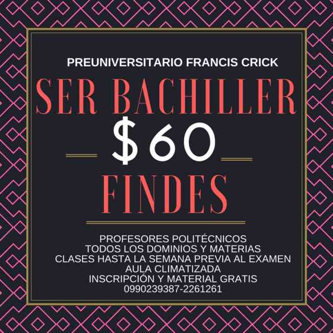 Curso Ser Bachiller Ineval Guayaquil 0990239387 Profs. Politécnicos. 2261261