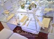 Alquiler de vajillas sillas tiffany y de madera mesas de vidrio y vintage pirotecnia fria telares