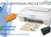 Impresora canon mg2410 sistema de tinta continua.
