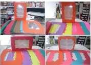 caja para 4-6-12 cupcakes multi-colores