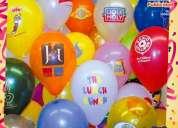 Decoraciones con globos impresos a $0.95