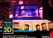 Renta de arcos led 3d en guayaquil