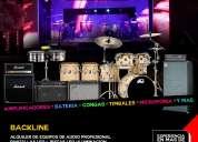 Renta de backline para grupos musicales