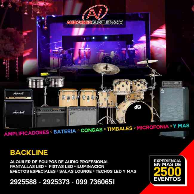 Alquiler de  Backline para grupos musicales