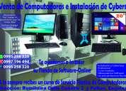 Venta de computadoras e instalación de centros de computo.
