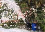Maquina de espuma, cañon de gran capacidad