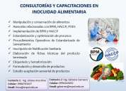 ConsultorÍas y capacitaciones en inocuidad alimentaria
