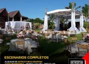 Alquiler de escenarios completos para eventos en guayaquil