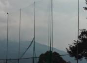 Mallas de nylon para cercar los perimetros de canchas deportivas