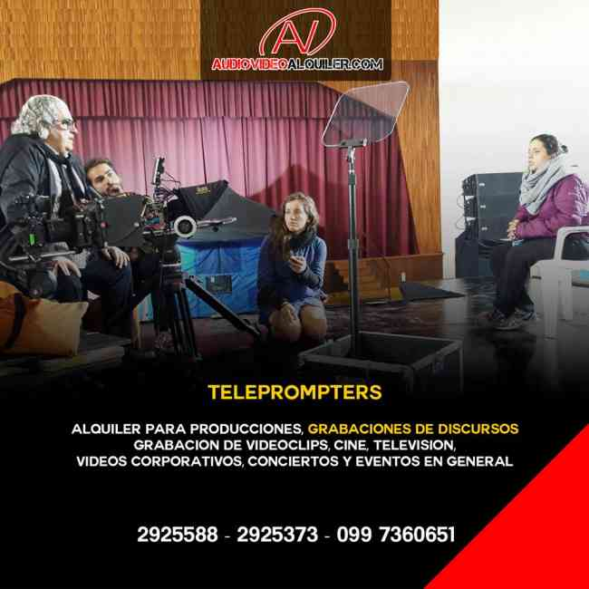 Telepromter  en   alquiler