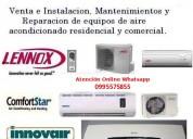 Se realizan mantenimiento reparación e instalaciones, acondicionadores de aire  cámaras frigorífi