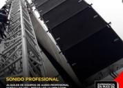 alquiler de equipos de audio profesional line array