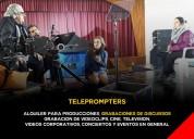 Telepromters en  alquiler
