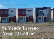 Se vende terreno de 121.60 m² en urb. san antonio, vía samborondón