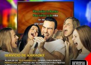alquiler de equipos para karaoke