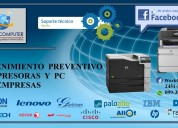 Mantenimiento preventivo y correctivo de impresoras para empresas