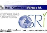 Contabilidad e impuestos en quito 0982114659  2611882