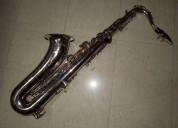 Saxofon tenor niquelado marca knight perfecto estado