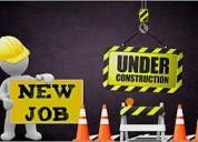 Trabajadores de la construcción necesarios para trabajar en los estados unidos
