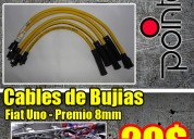 Remate cables de bujías fiat uno - premio  8mm