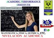 Nivelación de matemática, física, química, etc.