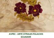 Plato decorativo en cristal