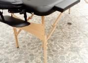 Camilla para masajes profesionales portátil de madera
