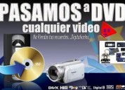 Paso videos beta, vhs, filmadora a dvd