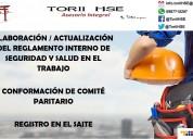 Reglamento interno sst. comitÉs paritarios. registro saite. garantizado
