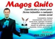 Mago--show espectacular y diferente con varios trucos de magia, payasos, mimo, hora loca!!
