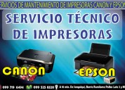 servicio técnico garantizado de impresoras cannon epson