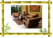 Vendo juegos de sala, de comedor, dormitorios, camas, bares, sillas para bares. todo en bambu