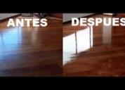 Pulido y lacado de pisos de madera $6 oferta