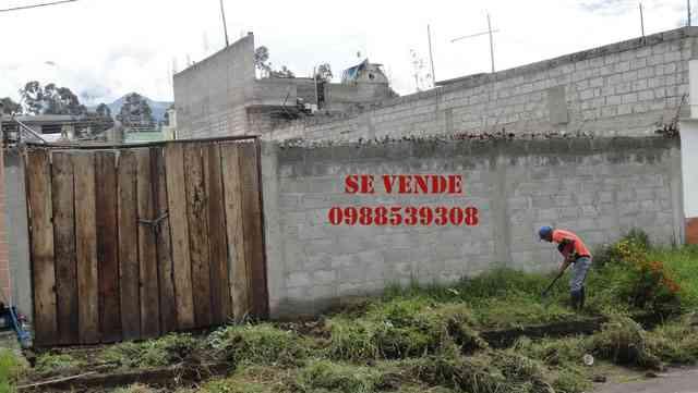 Se vende un lote de terreno en Otavalo