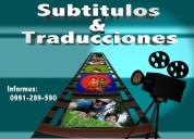 Subtitulación y traducción de vídeos y películas