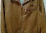 chaqueta de cuero talla 40, color cafe, nueva