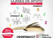 Clases de quimica inorganica y mÁs