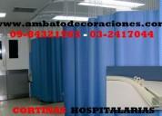 Cortinas hospitalarias anti bacterianas en ecuador  (0994-584-925)