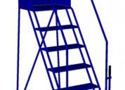 Escaleras industriales moviles para bodegas y almacenes