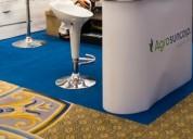 Instalación de tapizon y alfombras para ferias