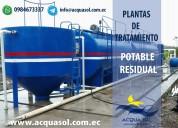 Plantas de tratamiento de agua potable y residual