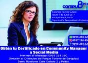Curso de community manager sangolqui