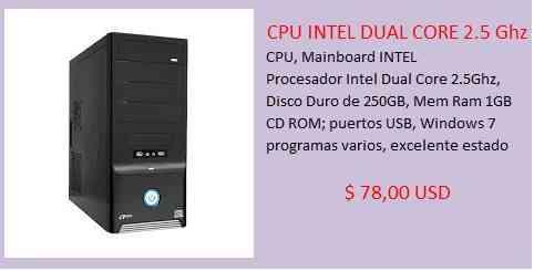 CPU INTEL DUAL CORE 2.5 Ghz
