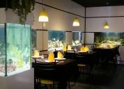 Vendo excelente restaurante-acuario, con la cocina italiana