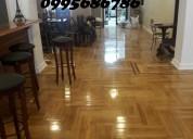 Reparacion instalacion y mantenimiento de pisos de madera- pulido y lacado $6
