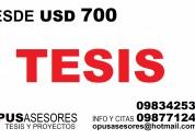 Asesoria academica economica. desde usd 700.